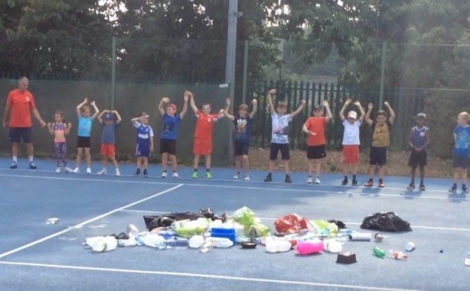 Roundwood Tennis Club - The first waste plastic tennis courts