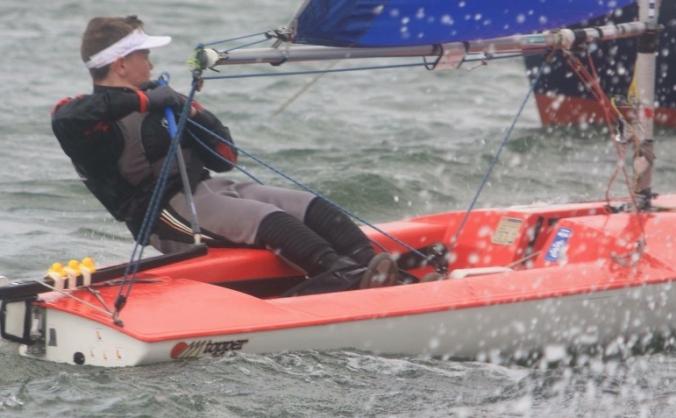 Promising young laser sailer