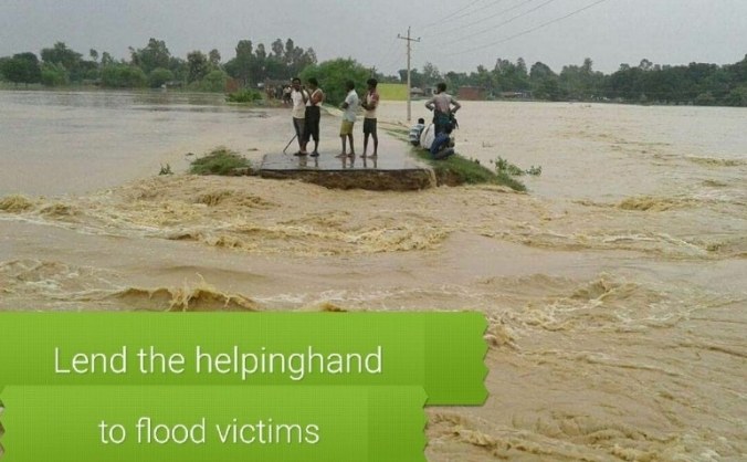 Supporting flood victims in Nepal