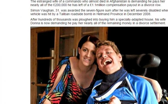 Help disabled veteran Simon Vaughan