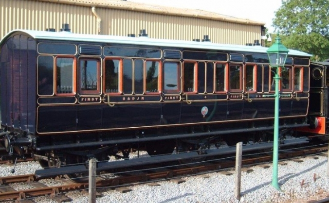 Victorian railway carriage
