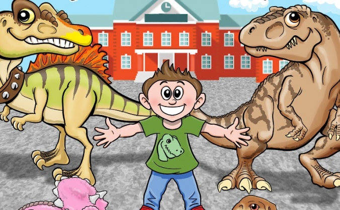 Dinosaurs at my school (childrens book)