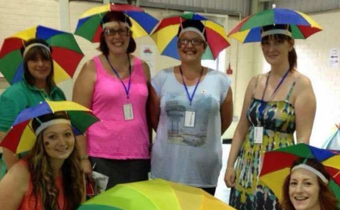Umbrellas - Lincoln Laptop Fund
