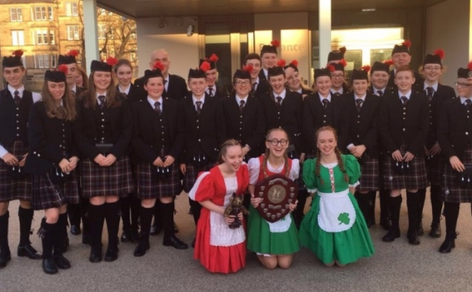 Sgoil Lionacleit Pipe Band go to Tartan Week NY