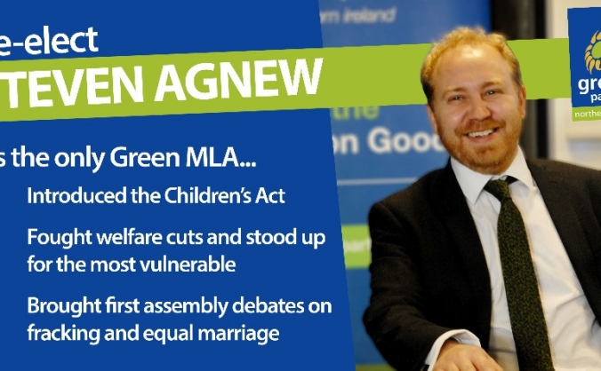 Help re-elect Steven Agnew MLA to the NI Assembly
