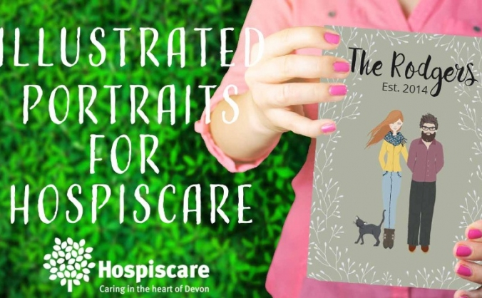 Illustrated Family Portraits for Hospiscare