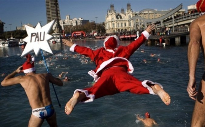 Winter swim to warm children's hearts