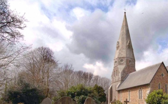 St Mary's Church,  Biscovey.    Save Our Spire