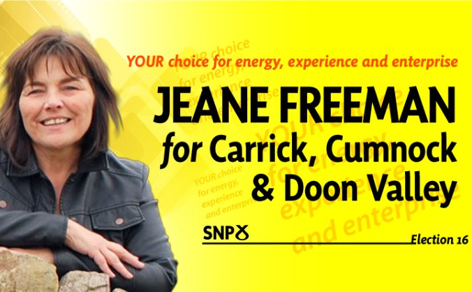 Jeane Freeman SNP for Holyrood 2016