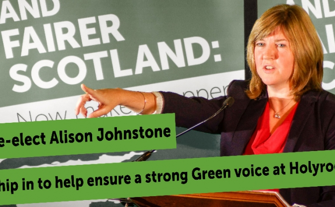 Re-elect Alison Johnstone!