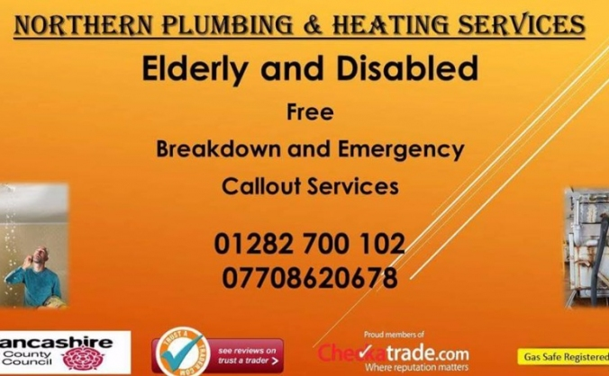 Elderley and Disabled Free plumbing and heating