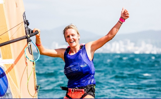 New olympic board for Windsurfer Emma Wilson!