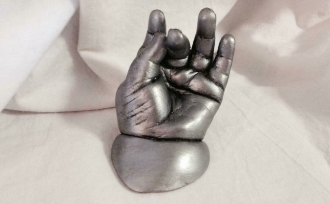 Memorial 3D baby hand and foot casts