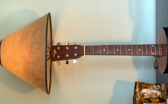 Hand Crafted Guitar Lamp