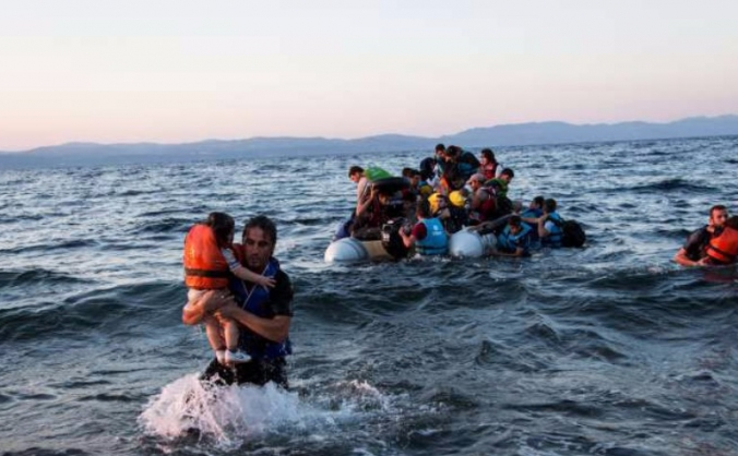 Aid for refugees in Lesbos, Greece