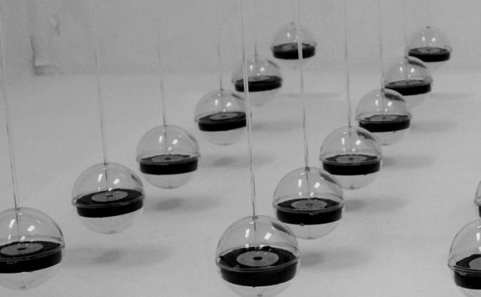 Art Installation - 100 Magnetic Pendulums