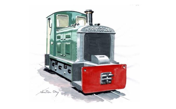 Perrygrove railway new locomotive