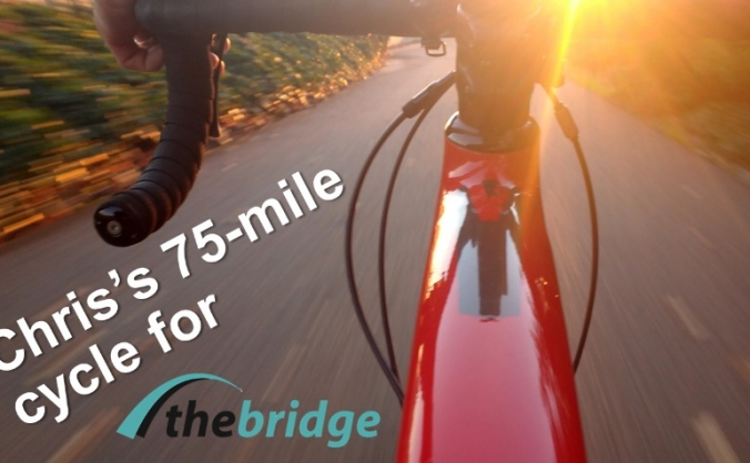 Chris Taylor's 75-mile cycle for The Bridge