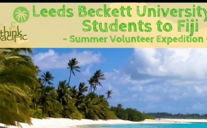 Leeds Beckett Fiji project with think Pacific