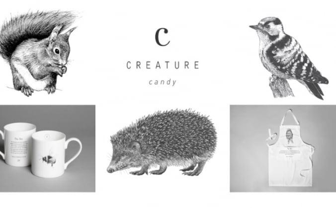 Creature Candy Hedgehog, Squirrel & Bird Designs