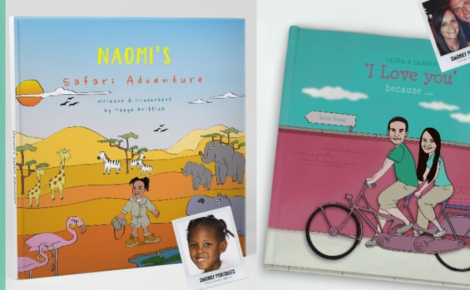 Books with personalised illustrations