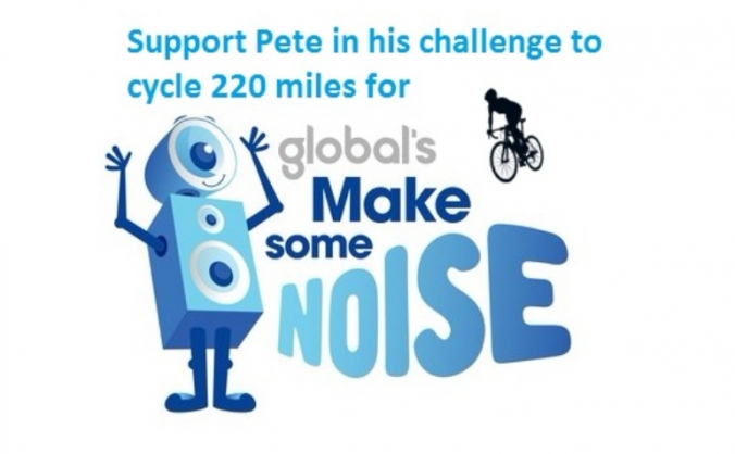 Pete is cycling the Ewood Park - Newbury Challenge