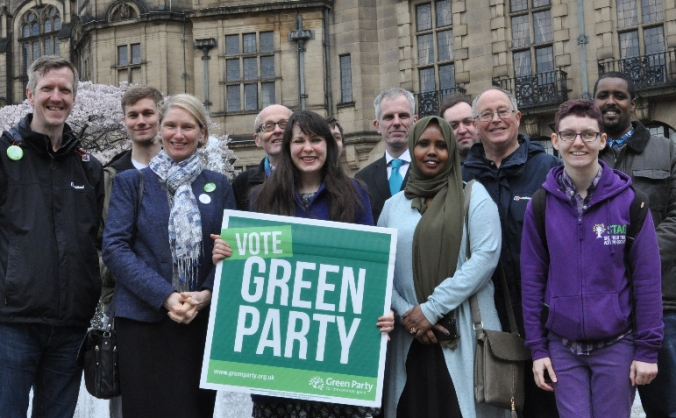 MORE SHEFFIELD GREEN COUNCILLORS  ON MAY 3RD!