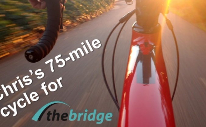 Chris Taylor's 75-mile cycle for The Bridge 2