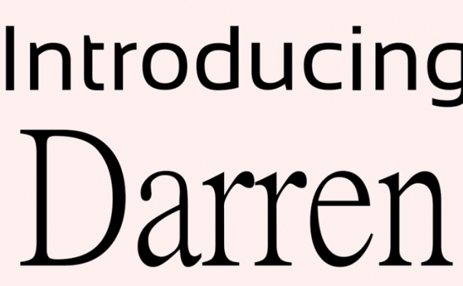 Introducing Darren