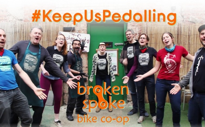 Keep Broken Spoke pedalling!