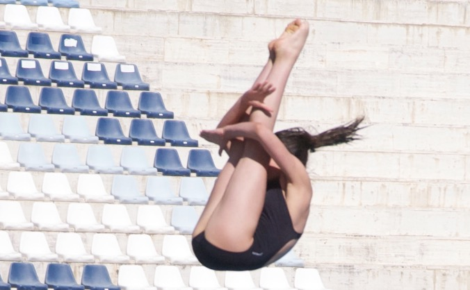 Send England Diver Louise to China Training Camp