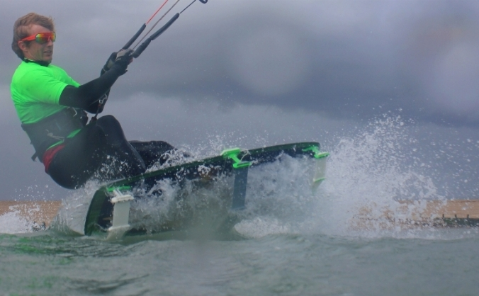 Low Profile Hydrofoil for Kitesurfers