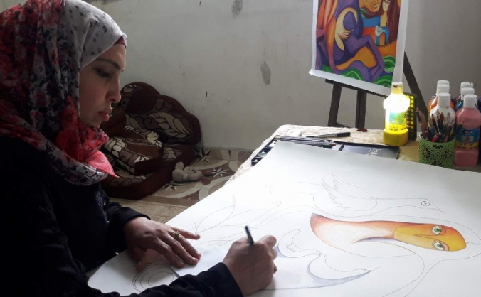 Bring Laila Kassab's artwork from Gaza to the UK
