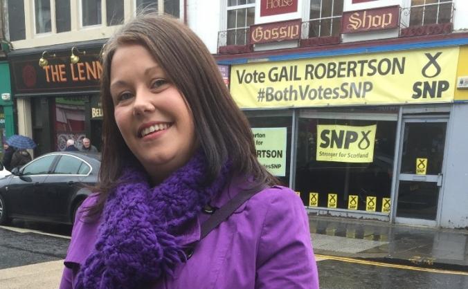 Gail Robertson SNP for Dumbarton Constituency