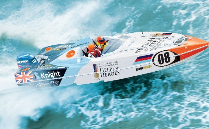 Powerboat team racing to support Help for Heroes