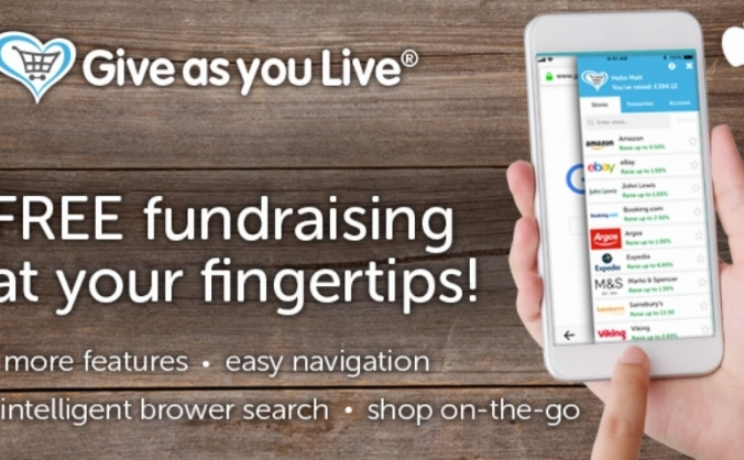 GIVE AS YOU LIVE CHARITY APP