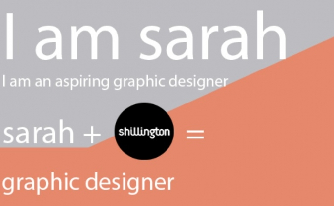 Sarah goes to Shillington Graphic Design School!