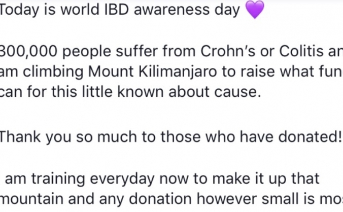 Raising funds for Crohn's and Colitis UK