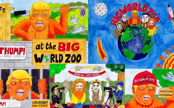 THUMP the Orange Gorilla at the Big World Zoo