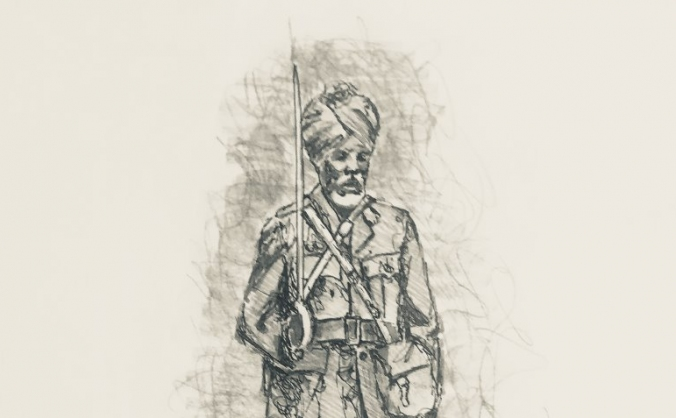 Sikh Soldier Statue - First World War Centenary