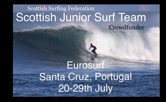Scottish Junior Surf Team competing at Euros