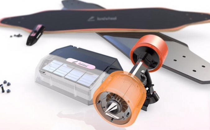 YAVE In-wheel Removable Battery Electric Longboard