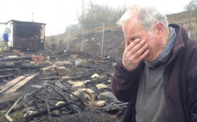 Hunningley Field allotments arson