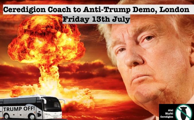 Ceredigion Coach to Protest the vile Donald Trump