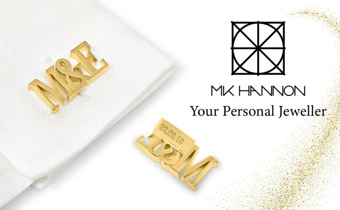 MK HANNON Jewellery - Custom Wedding Cufflinks