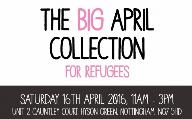 BIG April Collection for Refugees