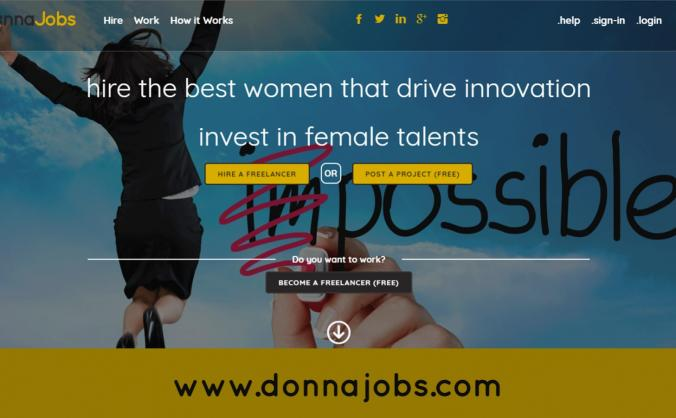 A Marketplace for helping women to work: DonnaJobs