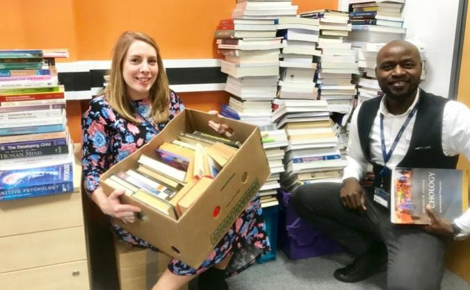 Ship donated books to University of Jos, Nigeria