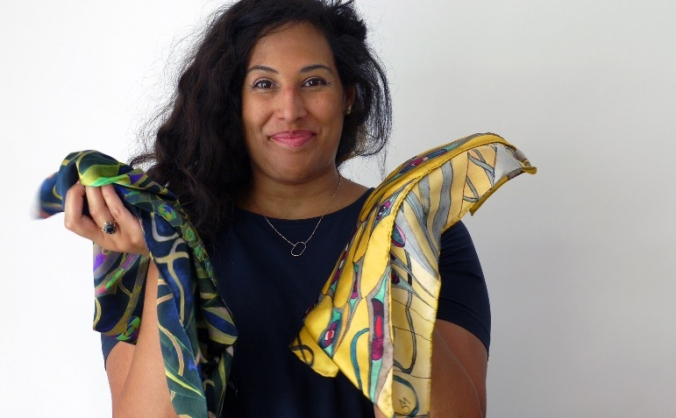 Maya Material:  Silk Scarves from Mindful Drawing