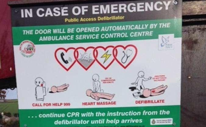Poltair School and Community Defibrillator